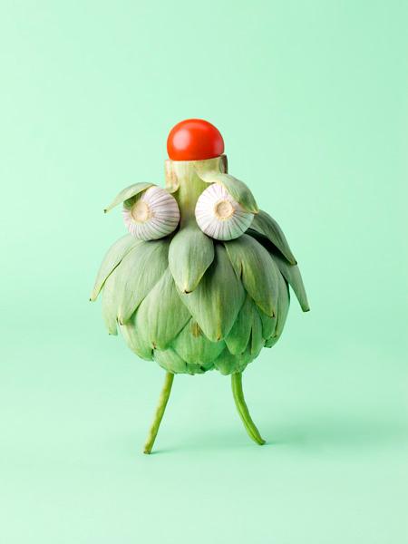 Arte com vegetais 11
