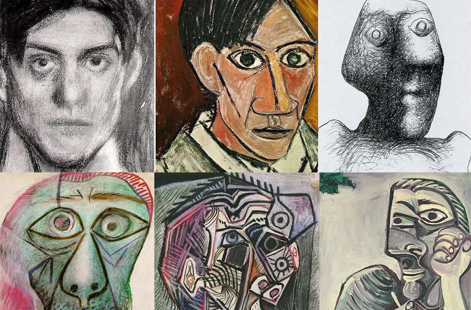 A evolu��o dos autorretratos de Picasso dos 15 aos 90 anos