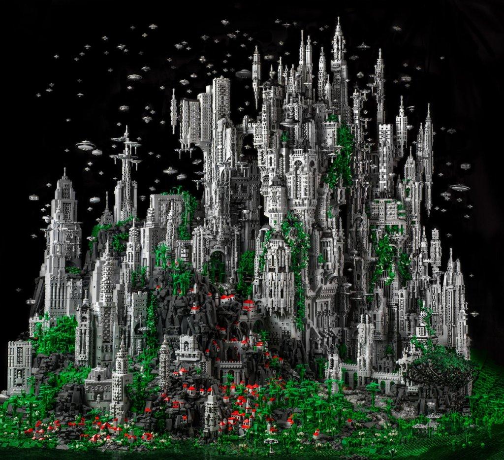 Mestre do LEGO constrói épico mundo de fantasia com 200 mil peças 01