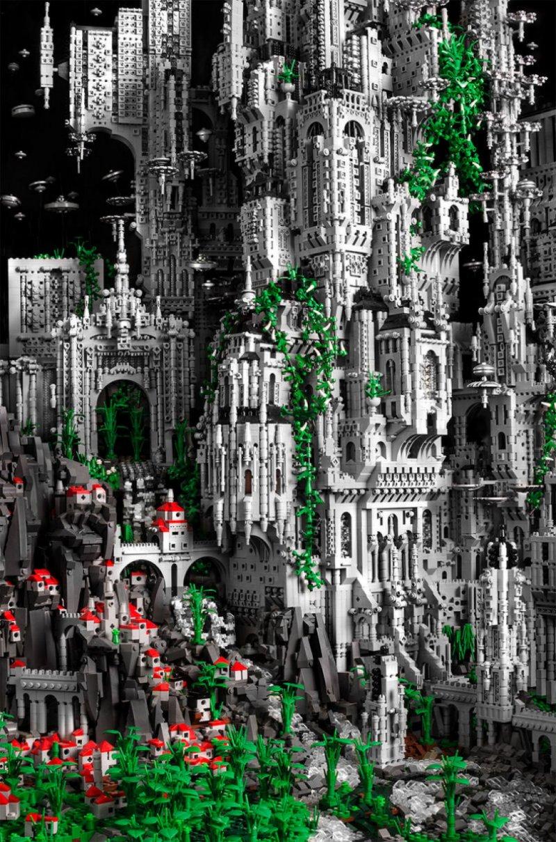 Mestre do LEGO constrói épico mundo de fantasia com 200 mil peças 03