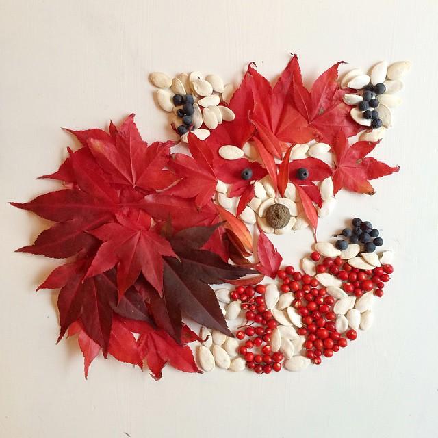 Artista cria belas colagens com flores e plantas 04