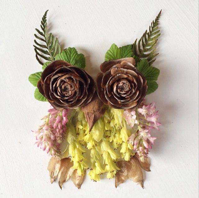 Artista cria belas colagens com flores e plantas 09