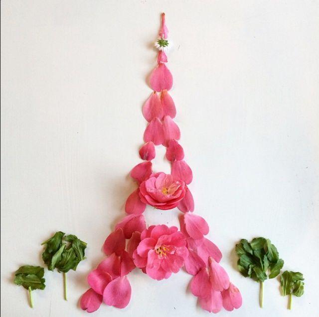 Artista cria belas colagens com flores e plantas 14