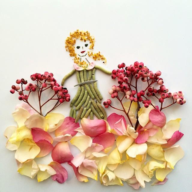Artista cria belas colagens com flores e plantas 16