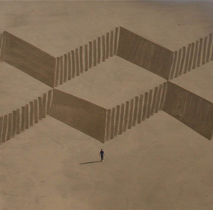 A colossal arte de Jim Denevan 11
