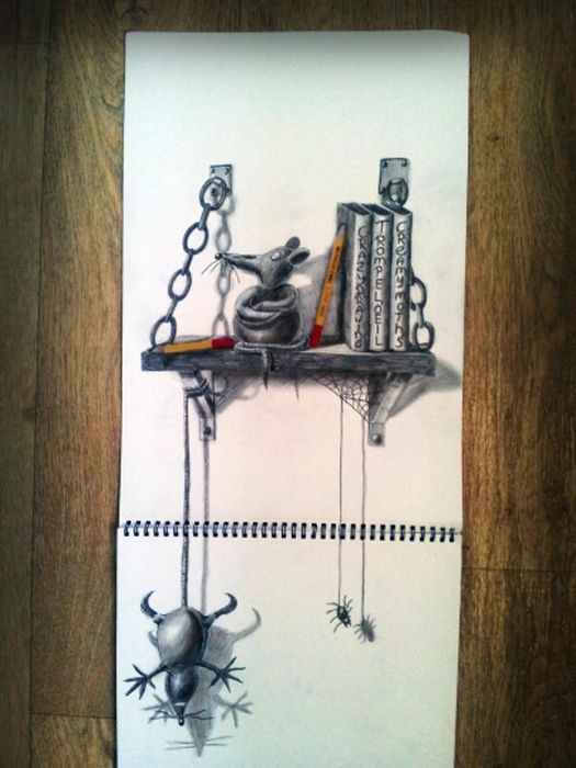 Desenhos 3D anamórficos de Ramon Bruin 01