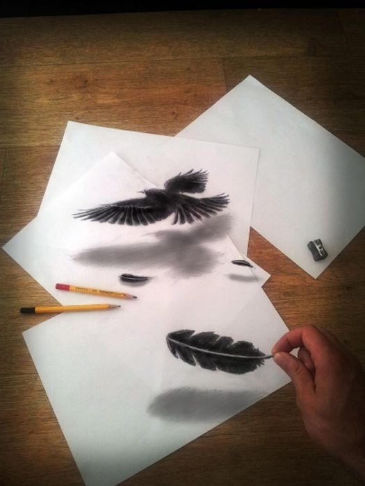 Desenhos 3D anamórficos de Ramon Bruin 03