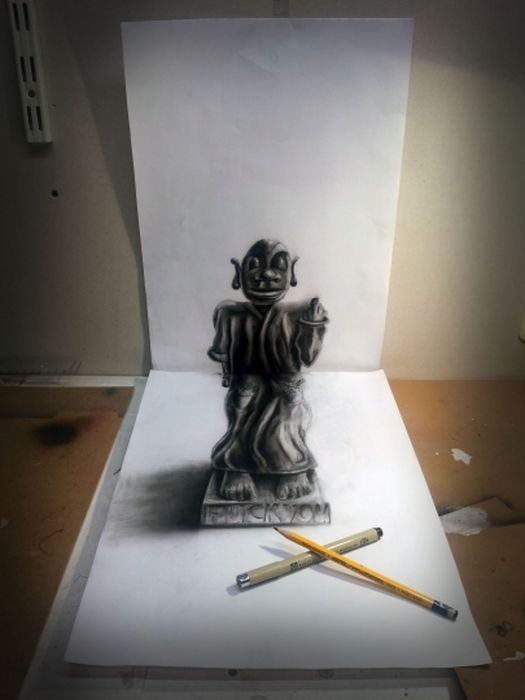 Desenhos 3D anamórficos de Ramon Bruin 04