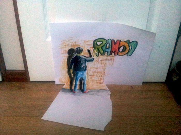 Desenhos 3D anamórficos de Ramon Bruin 06