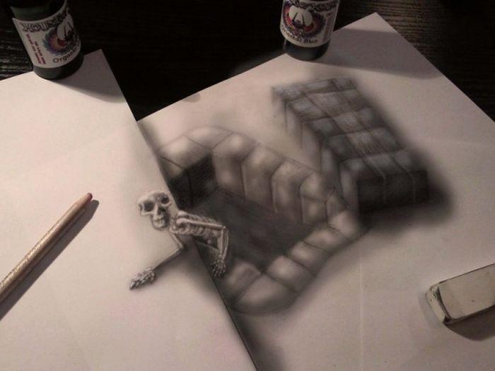 Desenhos 3D anamórficos de Ramon Bruin 08