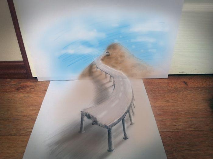 Desenhos 3D anamórficos de Ramon Bruin 10