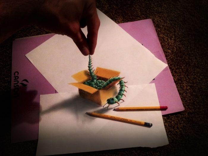 Desenhos 3D anamórficos de Ramon Bruin 12