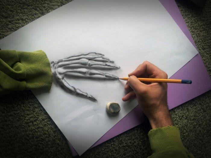 Desenhos 3D anamórficos de Ramon Bruin 18