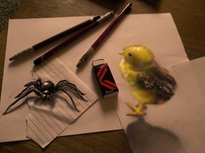Desenhos 3D anamórficos de Ramon Bruin 19