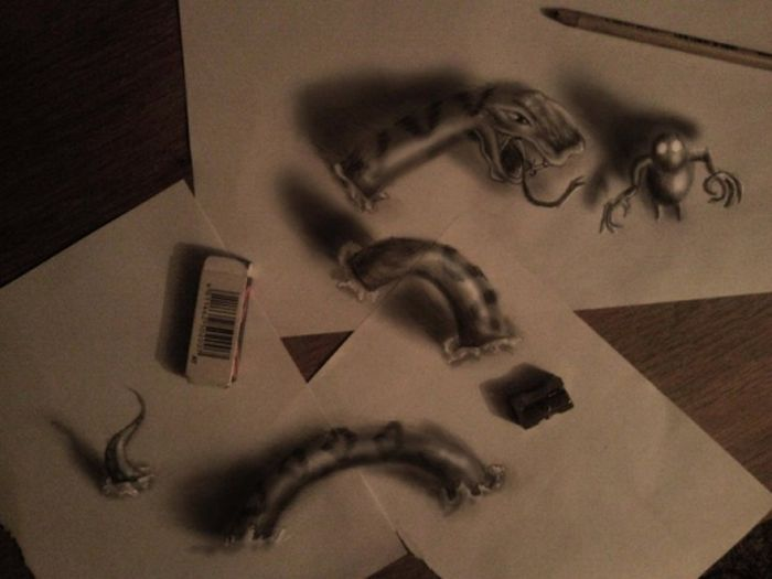 Desenhos 3D anam�rficos de Ramon Bruin 20