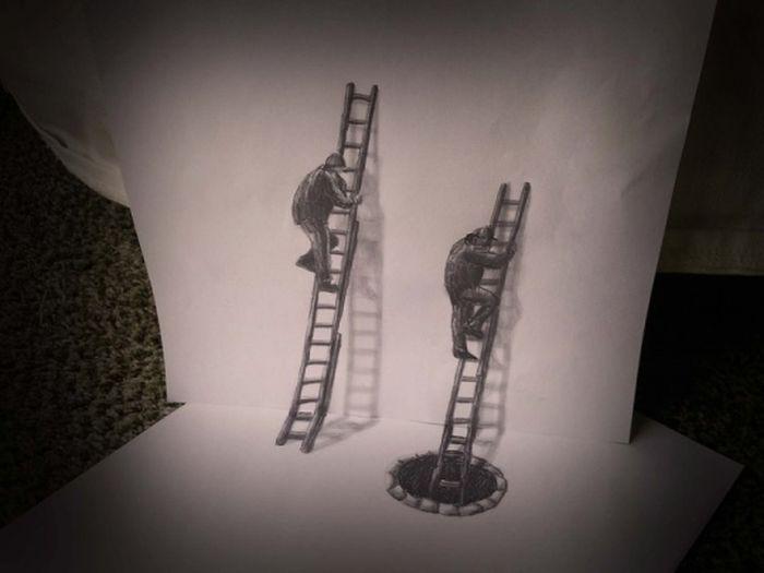 Desenhos 3D anamórficos de Ramon Bruin 26