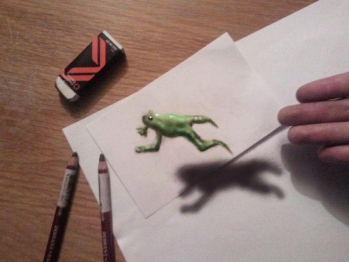 Desenhos 3D anamórficos de Ramon Bruin 27