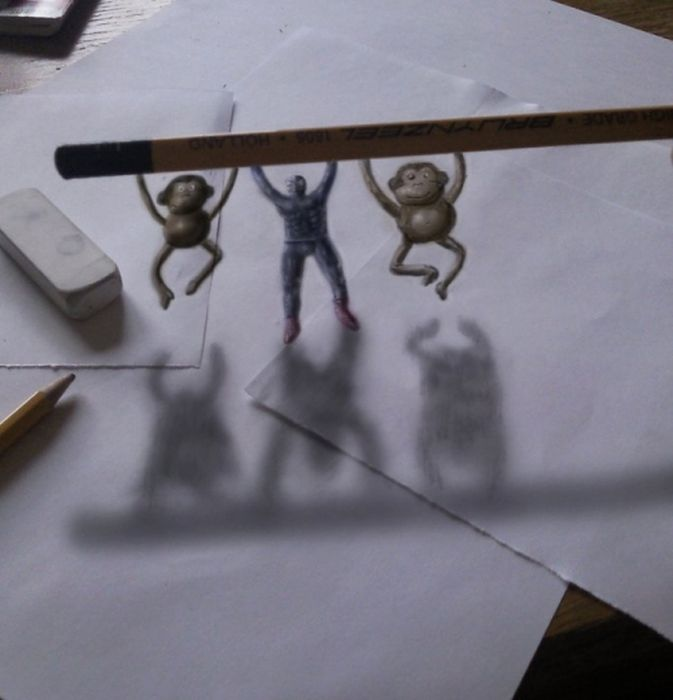 Desenhos 3D anamórficos de Ramon Bruin 29