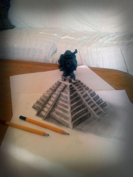 Desenhos 3D anamórficos de Ramon Bruin 30