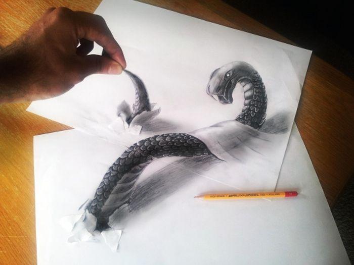 Desenhos 3D anamórficos de Ramon Bruin 33