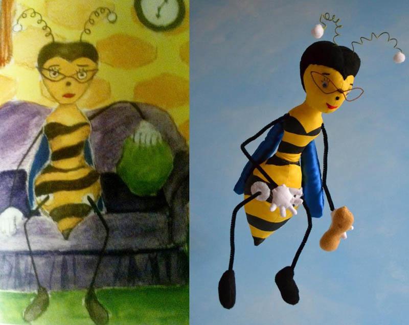 Mãe cria divertidos brinquedos a partir de desenhos infantis 01