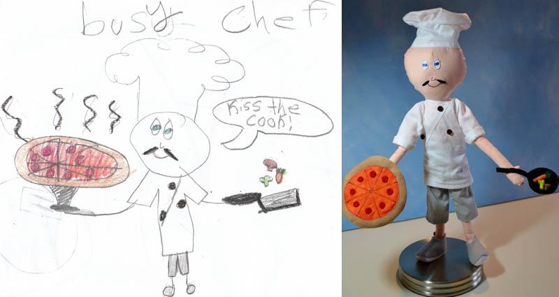 Mãe cria divertidos brinquedos a partir de desenhos infantis 02
