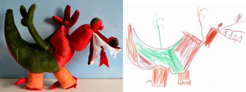 Mãe cria divertidos brinquedos a partir de desenhos infantis 03