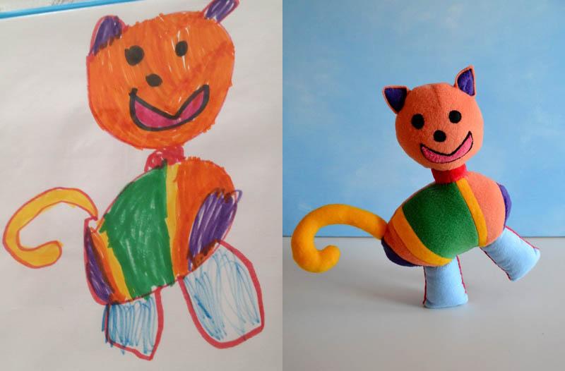 Mãe cria divertidos brinquedos a partir de desenhos infantis 05