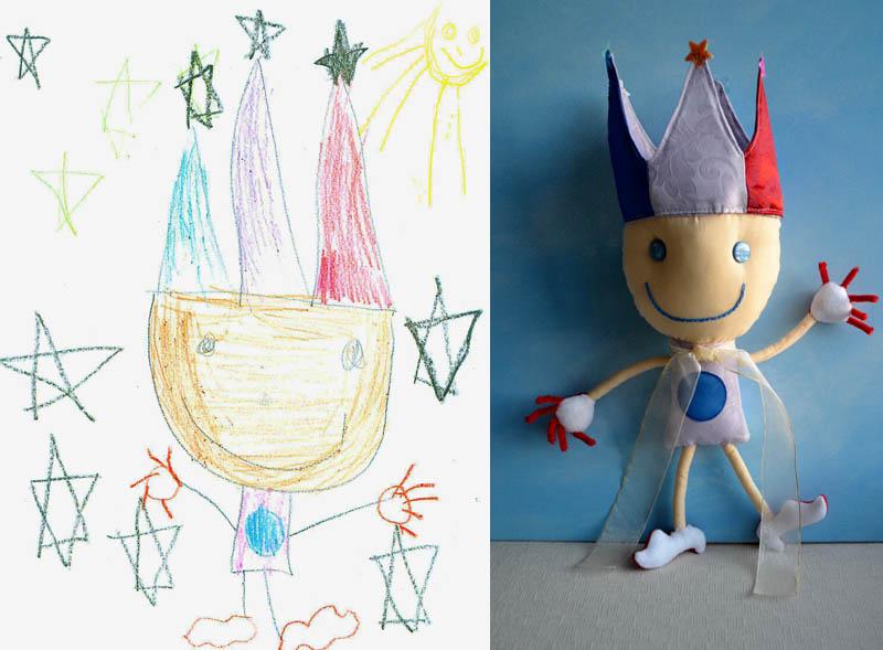 Mãe cria divertidos brinquedos a partir de desenhos infantis 06