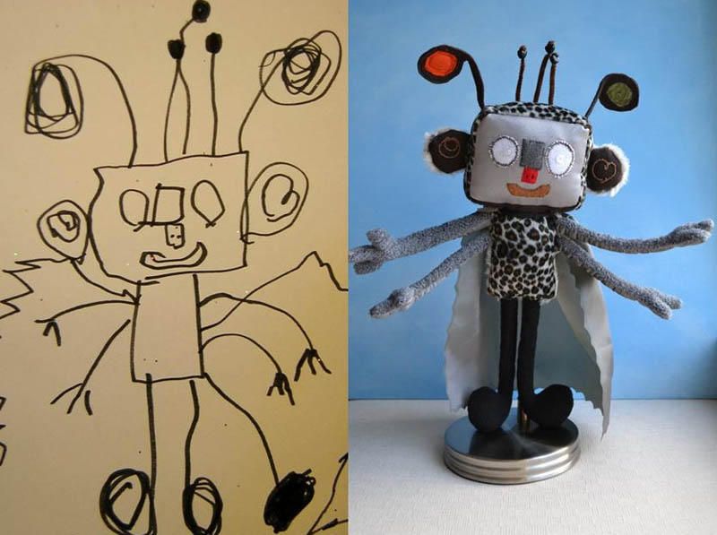 Mãe cria divertidos brinquedos a partir de desenhos infantis 07