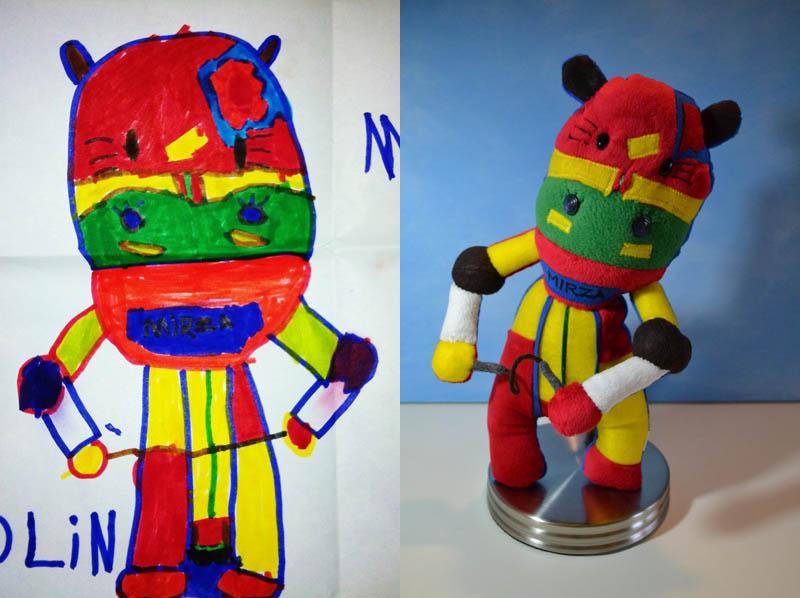 Mãe cria divertidos brinquedos a partir de desenhos infantis 19