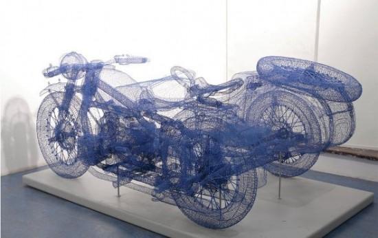 As realistas esculturas em arame de Jindian Shi 03
