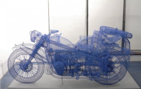 As realistas esculturas em arame de Jindian Shi 05