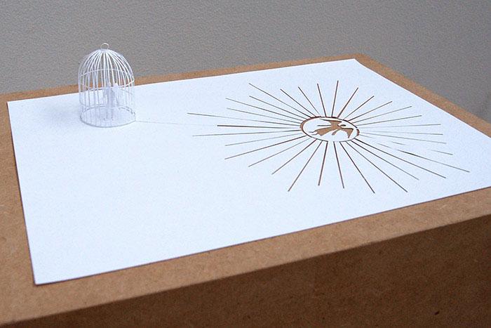 20 esculturas de papel A4 cortado e dobrado 01