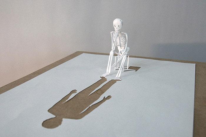 20 esculturas de papel A4 cortado e dobrado 02