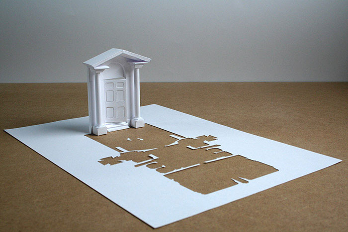 20 esculturas de papel A4 cortado e dobrado 04