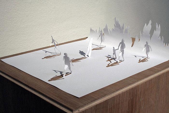 20 esculturas de papel A4 cortado e dobrado 05
