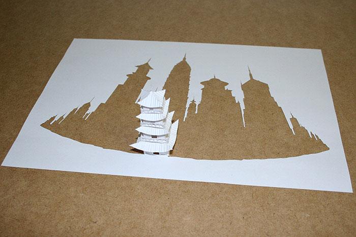 20 esculturas de papel A4 cortado e dobrado 07