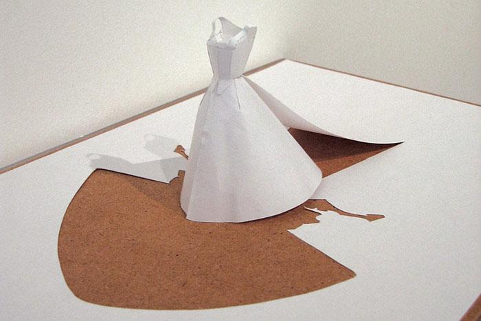 20 esculturas de papel A4 cortado e dobrado 09
