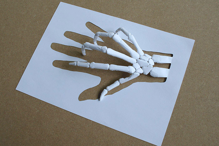 20 esculturas de papel A4 cortado e dobrado 10