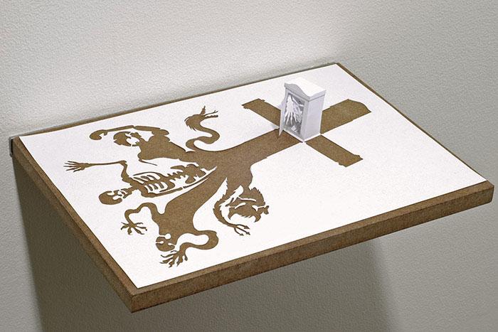 20 esculturas de papel A4 cortado e dobrado 12