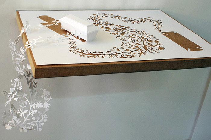 20 esculturas de papel A4 cortado e dobrado 14