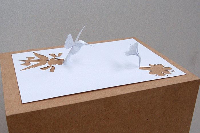 20 esculturas de papel A4 cortado e dobrado 15