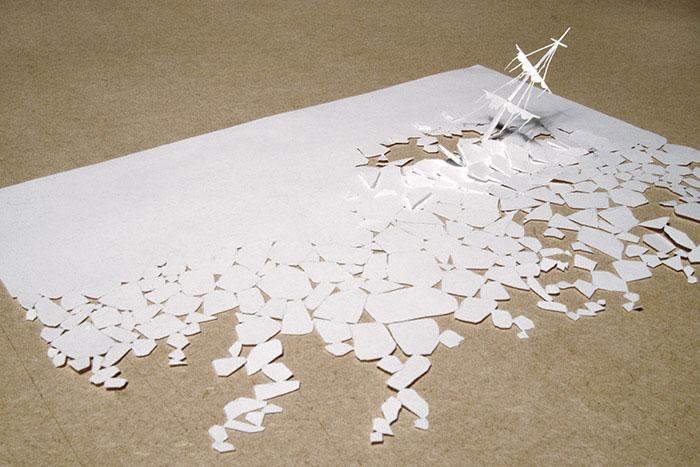 20 esculturas de papel A4 cortado e dobrado 16