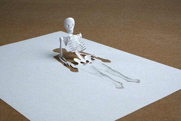 20 esculturas de papel A4 cortado e dobrado 17