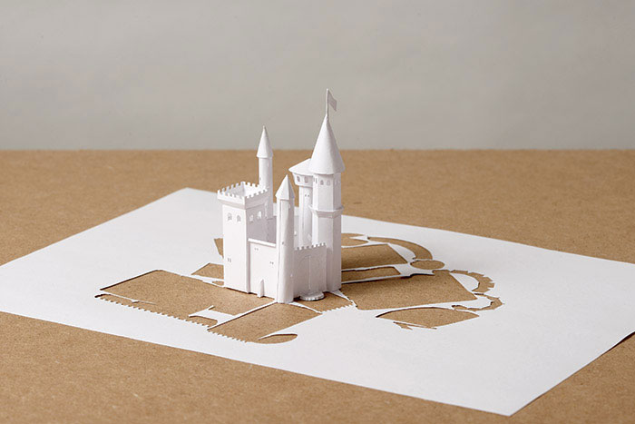 20 esculturas de papel A4 cortado e dobrado 18