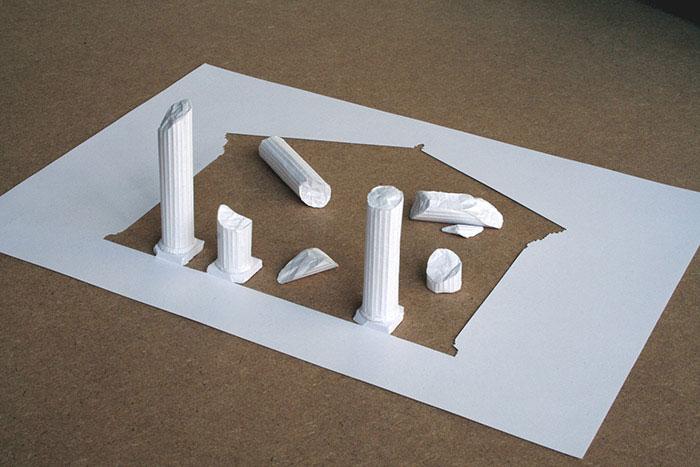 20 esculturas de papel A4 cortado e dobrado 20