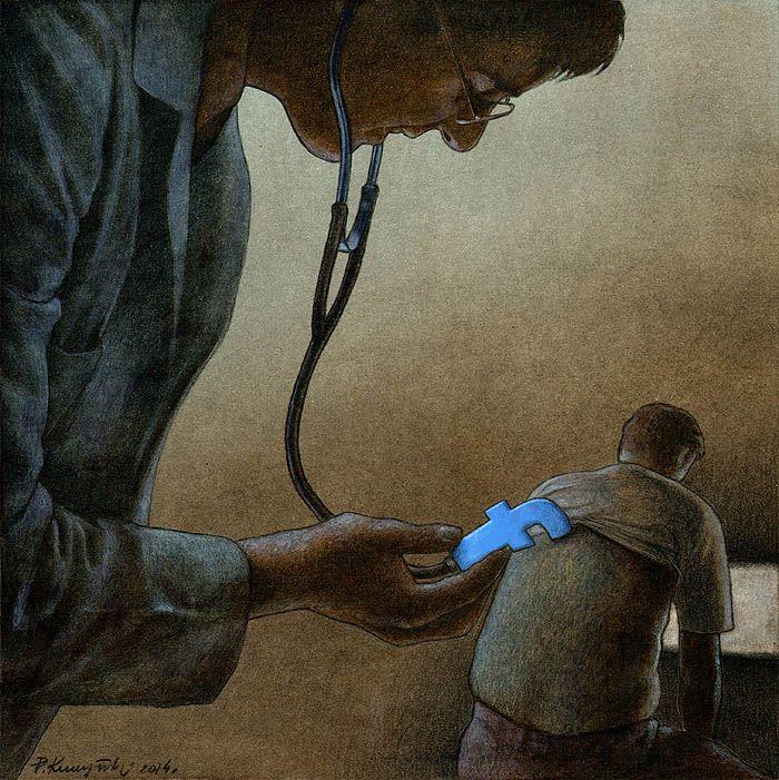 Outras incômodas ilustrações de Pawel Kuczynski mostram o que há de errado com a sociedade atual 49