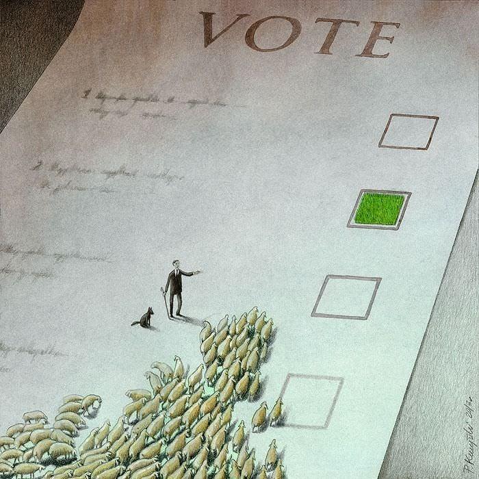 Outras incômodas ilustrações de Pawel Kuczynski mostram o que há de errado com a sociedade atual 50