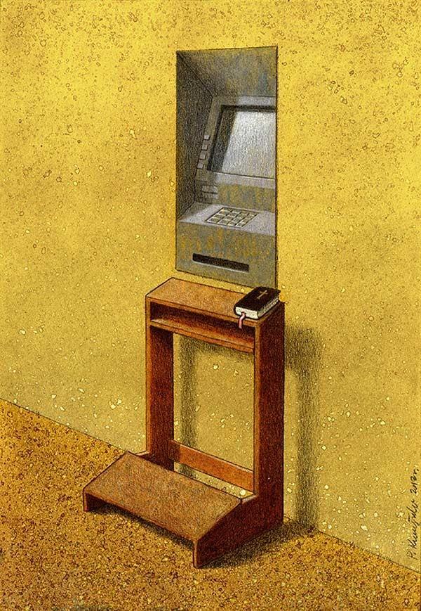 Outras incômodas ilustrações de Pawel Kuczynski mostram o que há de errado com a sociedade atual 52